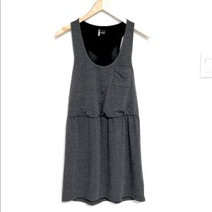 Cinched Waist Tank Dress with Mesh Back XS
